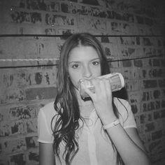 #WomenDrinkingBeer #model #julie #longhair #blackandwhite #rooftop #nyc #beer