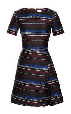 Side-Pleat Woven Mini Dress by Suno - Moda Operandi