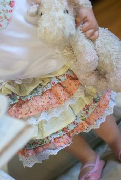 DIY Easy Little Ruffle Skirt Tutorial... So cute!