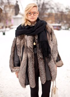 jacket, aviators, glasses, furs, fur coat, new haircuts, foxes, fashion bloggers, coats