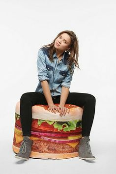 gift ideas 2013: URBAN OUTFITTERS HAMBURGER BEAN BAG #wishlist