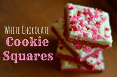 White Chocolate Cookie Squares