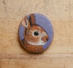 Rabbit brooch handmade by cOnieco on Etsy