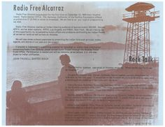 RADIO FREE ALCATRAZ, from Indians of All Tribe Newsletter, Issue no. 1