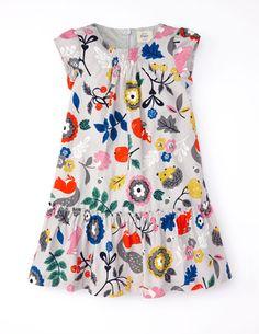 Pretty Printed Cord Dress