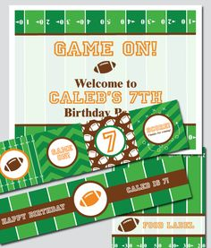 Super Bowl/Football Party on Pinterest