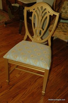 Paint on old chairs...New Again!
