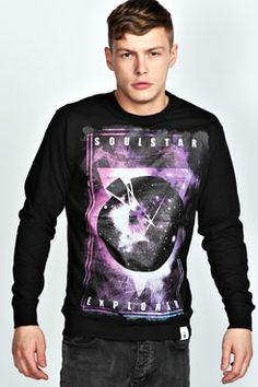 Cosmic Graphic Printed Sweater at boohoo.com