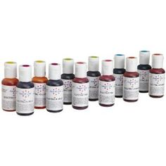 AmeriColor Electric Color Soft Gel Paste Food Color 12 Pack Kit