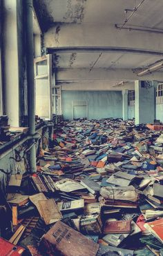 abandoned library, Russia