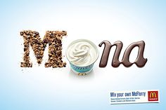 McDonald's McFlurry: Mona by DDB #foto #photography #advertising