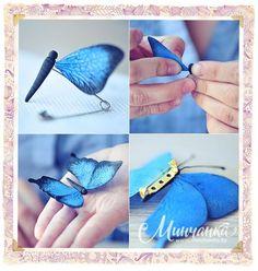 Бабочка кулон мастер класс