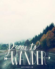 Prone to Wander  8x10 Unmounted Print  by WhimseyandWanderlust, $10.00