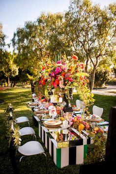 Long Wedding Tables | bellethemagazine.com