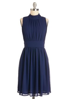 ModCloth Windy City Dress  I like this neckline. Is this too navy? @Hannah Barker?