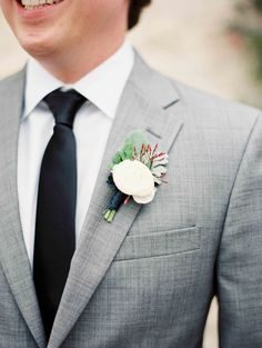 #boutonniere  Photography: Heather Hawkins Photography - www.heatherhawkinsphoto.com/  Read More: http://www.stylemepretty.com/2014/10/22/spring-garden-wedding-full-of-romance/