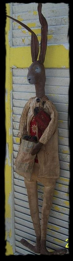Primitive Oscar Rabbit by Rabbithollowprims on Etsy, $85.00