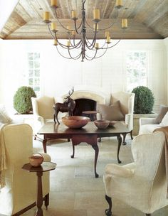 lighting. ceiling. floors. fireplace | Michael Hampton