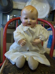 Antique Effanbee Composition and Cloth Bubbles Doll
