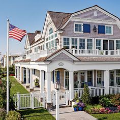 Classically picturesque, storybook perfect but never prim, this house in Stone Harbor, New Jersey, exudes a happy balance between practicality and panache.