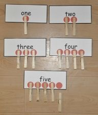 Couting and number correspondence TEACCH task for children with autism and in ABA therapy