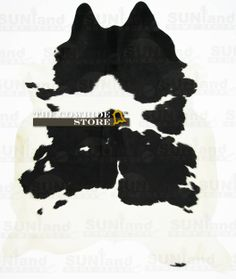Black and White Hair-On Cowhide Rug - 90 in x 75 in