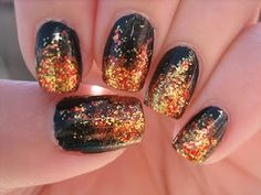 The Hunger Games, Girl On Fire nail art