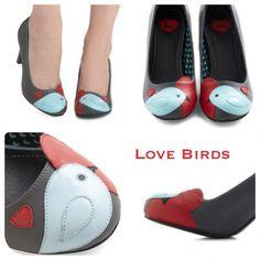 Super cute lovebirds shoes