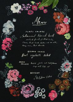 free Halloween printable menu card by Danielle Kroll for The House That Lars Built.