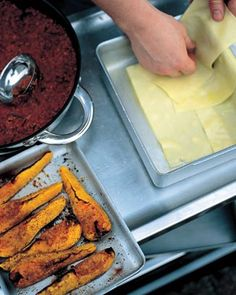 butternut squash, food recipes, beef recipes, bake lasagn, simpl bake, dinner parties, carrots, lasagna recipes, lasagn recip