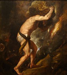 In Greek mythology, Sisyphus was a king punished by being compelled to roll an immense boulder up a hill, only to watch it roll back down, and to repeat this throughout eternity.