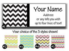 Super-Cute-Chevron-Personalized-Address-Labels-choice-of-styles
