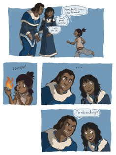 haha, I bet that was an interesting conversation between Korra's parents