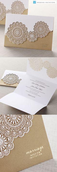 Laser Cut wedding Invites