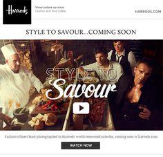 Harrods Savour email harrod savour