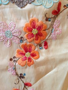 embroid flower, embroidering flowers, embroidered flower