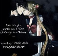 <3 Sailor Moon and Mamo-chan but honestly, my prince would be Seiya ;) Sure he's really a woman but as a guy, total sweetie!