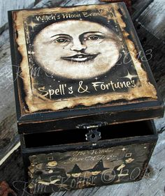 Witch Moon Wooden Box Ephemera Vintage Photo by VeenasMercantile, $40.00 Witch craft inspiration cute witchy