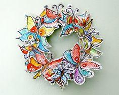 butterfly wreath tutorial