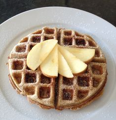 Whole Wheat Apple Cinnamon Waffles - YUMMM!