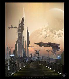 Future City, Futuristic Architecture