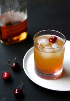 Cherry ginger bourbon fizz www.climbinggriermountain.com