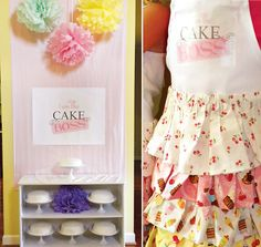 cute cake decorating party!