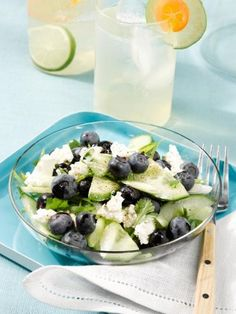 Conjure up summer with this refreshing Blueberry-Cucumber Salad #littlechanges