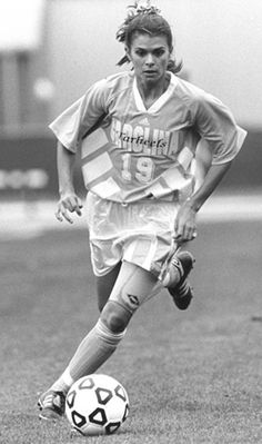 Mia Hamm as a Tar Heel, 1992. (University of North Carolina  Athletic Communications)
