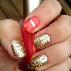 Gold Nail Art #nails #gold #barberfoods