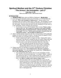 Spiritual Warfare and the 21 Century Christian