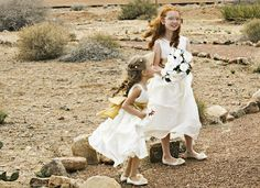 Dresses and shoes from www.adorablebabyclothing.com #wedding #flowergirl