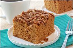 HG's Pumpkin Streusel Coffee Cake 4 WW points +