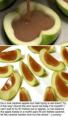 Caramel Filled  Apple Slices, what a great party food!